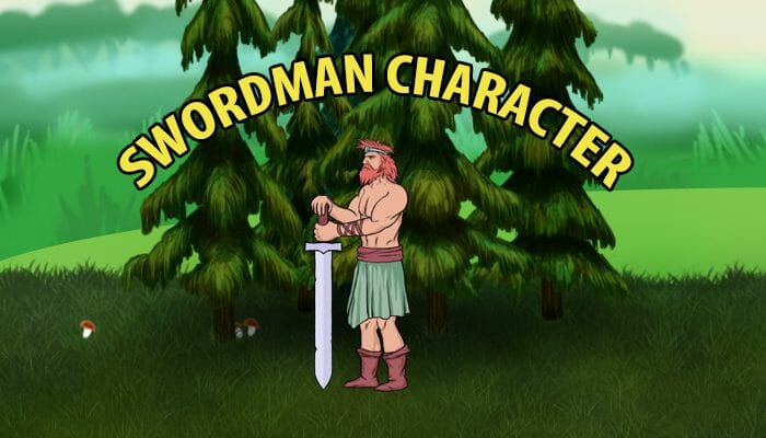 Swordman character for you game