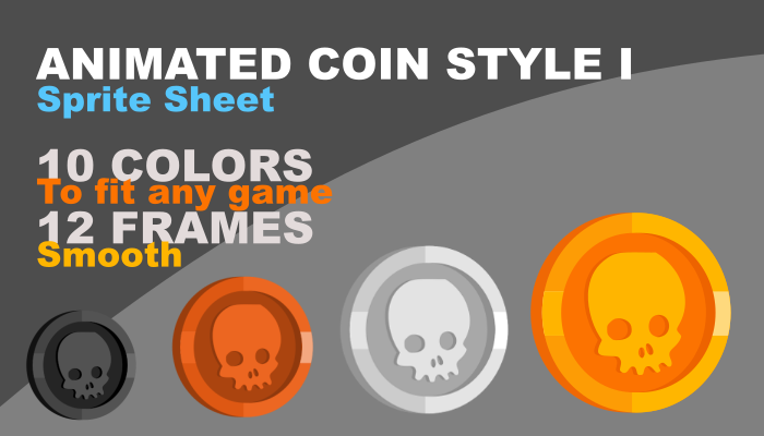 Animated coin style I (skull)
