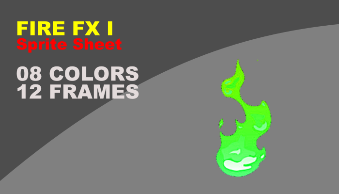 Fire Cartoon Fx I with 08 different colors