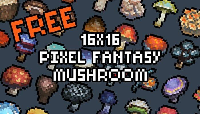 16×16 Fantasy Mushroom Pack