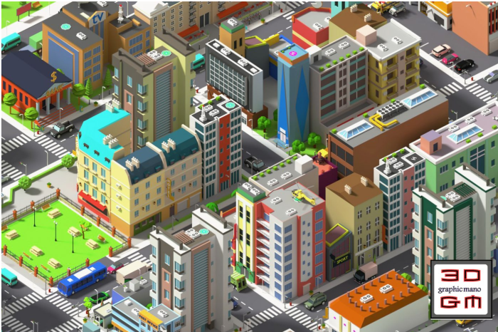 Simplepoly City – Low Poly Assets Low-Poly 3d Model