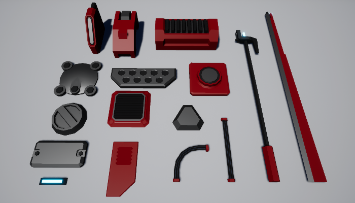 Low-Poly Greebles Pack