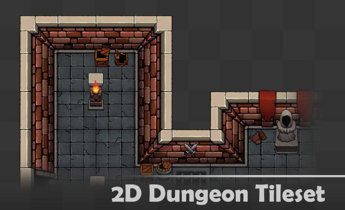 2D Dungeon Tileset