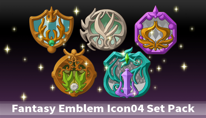Fantasy Emblem Icon04 Set Pack