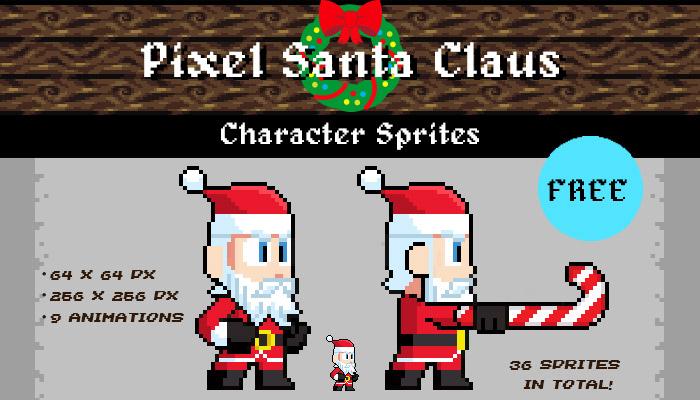 Pixel Santa Claus – Free Gift Character