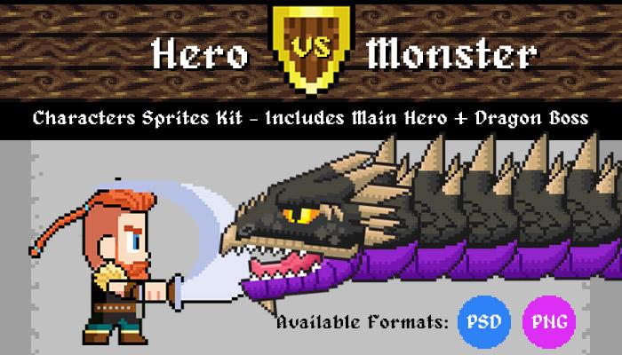 Hero VS Monster III – Characters Sprites Kit