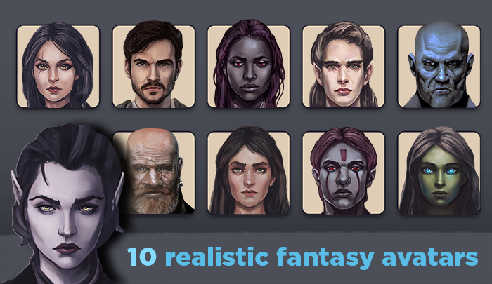 Fantasy character avatars