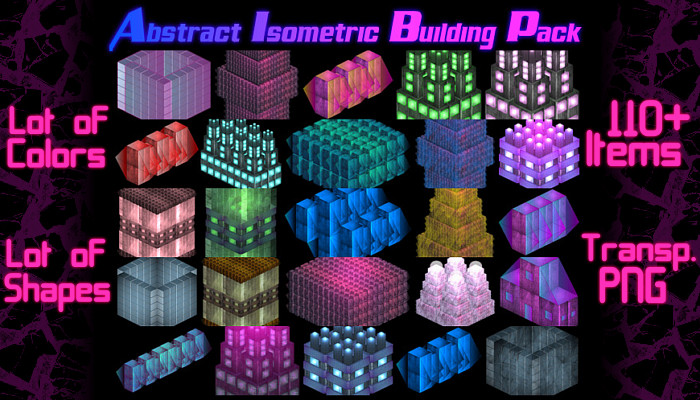 Unusual & Abstract Isometric Building Pack (110+ Items)