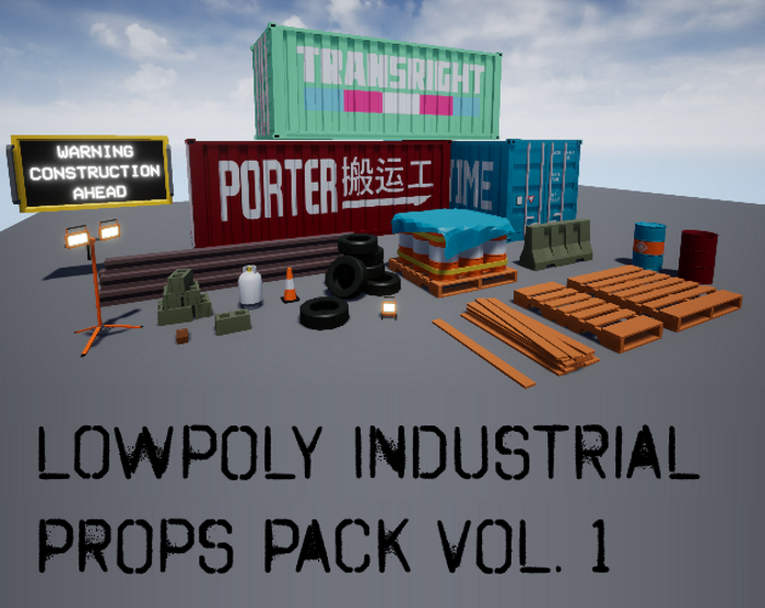 Low-Poly Industrial Props Pack