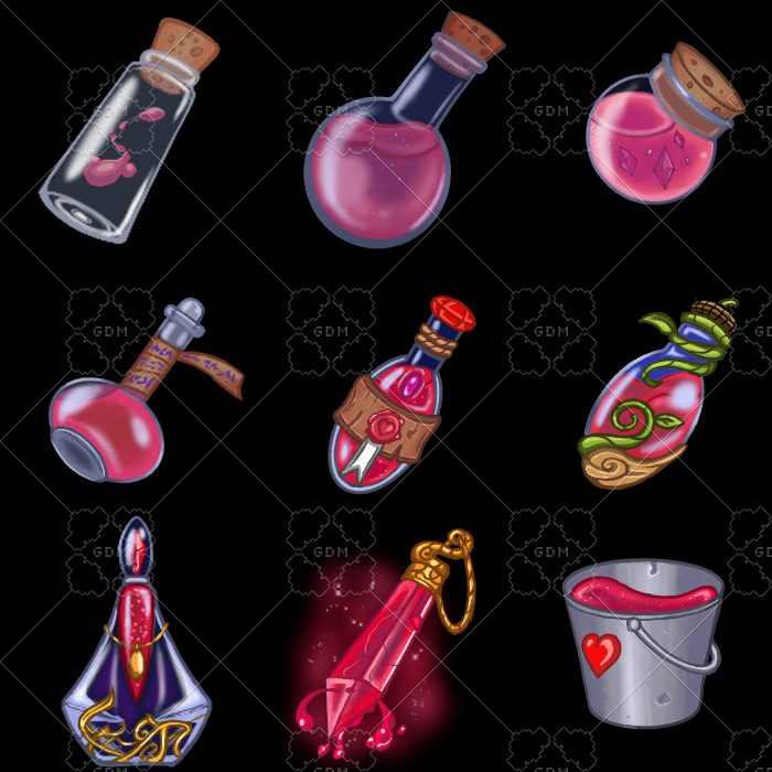 Fantasy Potion Bottles