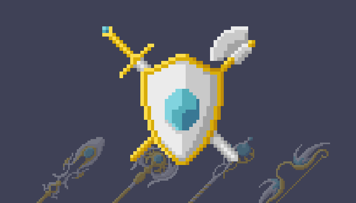 Light Fantasy Weapons (Pixel-Art)