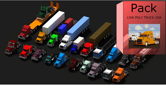LOW POLY AMERICAN TRUCKS Pack