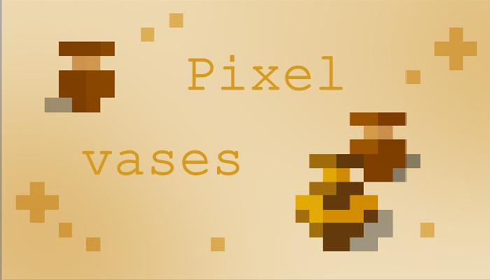 pixel vases