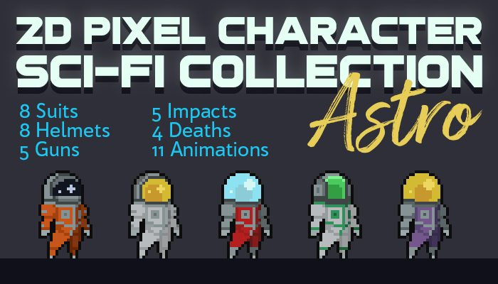 2D Pixel Character Sci-Fi Collection