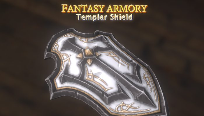 Medieval Fantasy Templar Shield