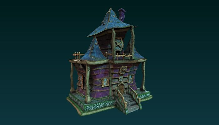 Low poly Cartoon Haunted House