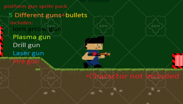platform gun pack-with bullets