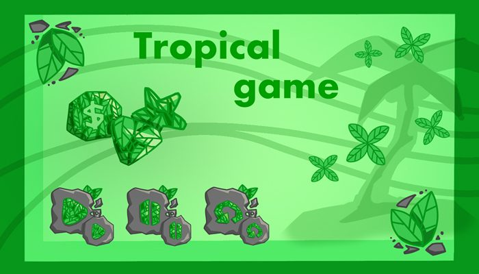 Tropical jungle buttons