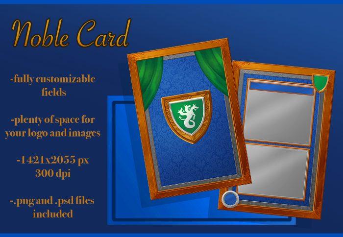 Noble Fantasy Card Design