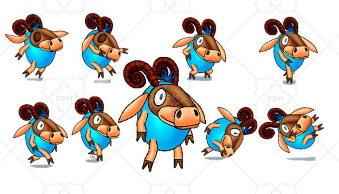2D Spine Platformer character Sheep3