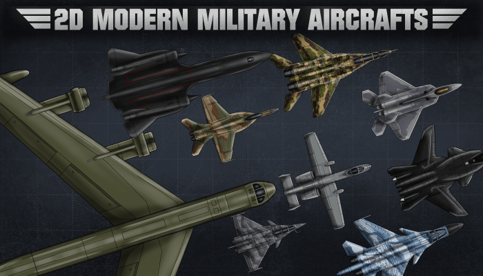 2D Modern Military Aircrafts