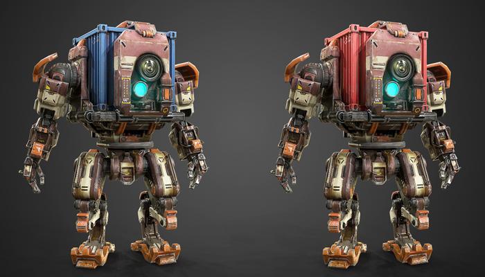AAA PBR Container Mech Robot