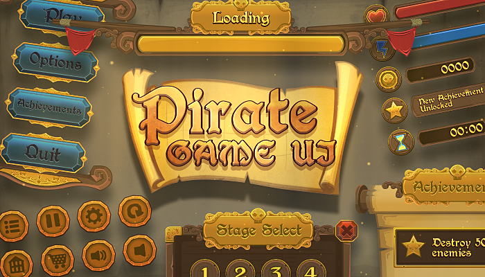 Pirate Game UI