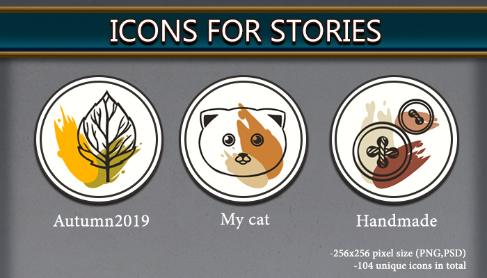Icons for stories