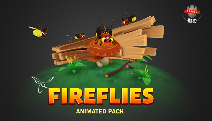 Fireflies animated pack