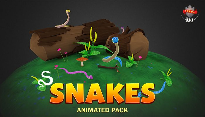 Snakes animated pack