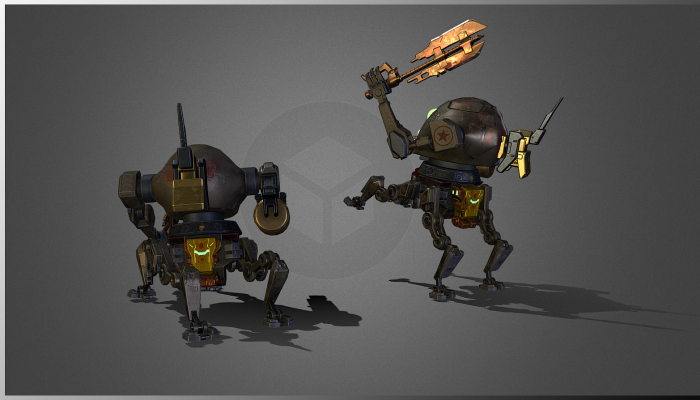 Spherider dieselpunk mecha