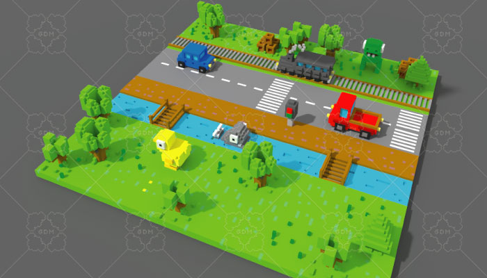 Crossy Road 3d Game Voxel Assets