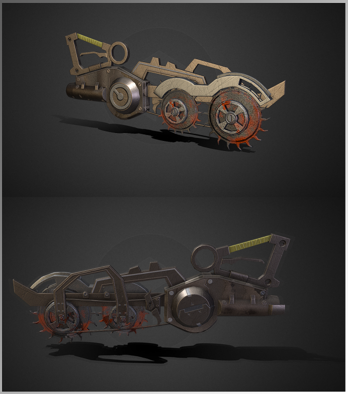 Circular dieselpunk sword