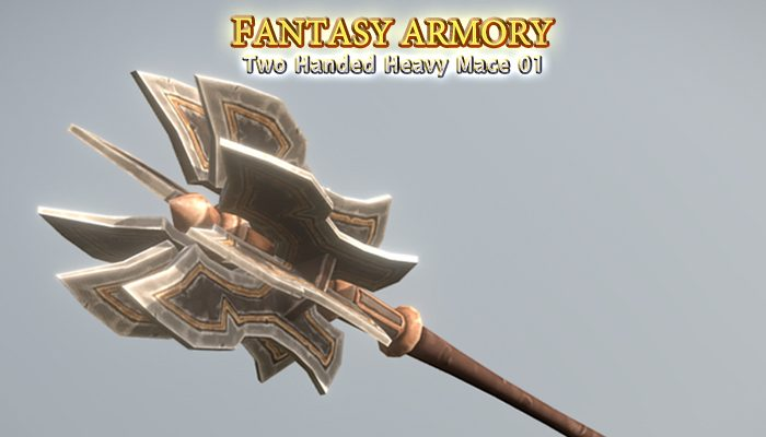 Medieval Fantasy Two Handed Heavy Mace 01