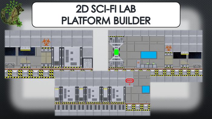 2D Sci-Fi Lab Platform Builder
