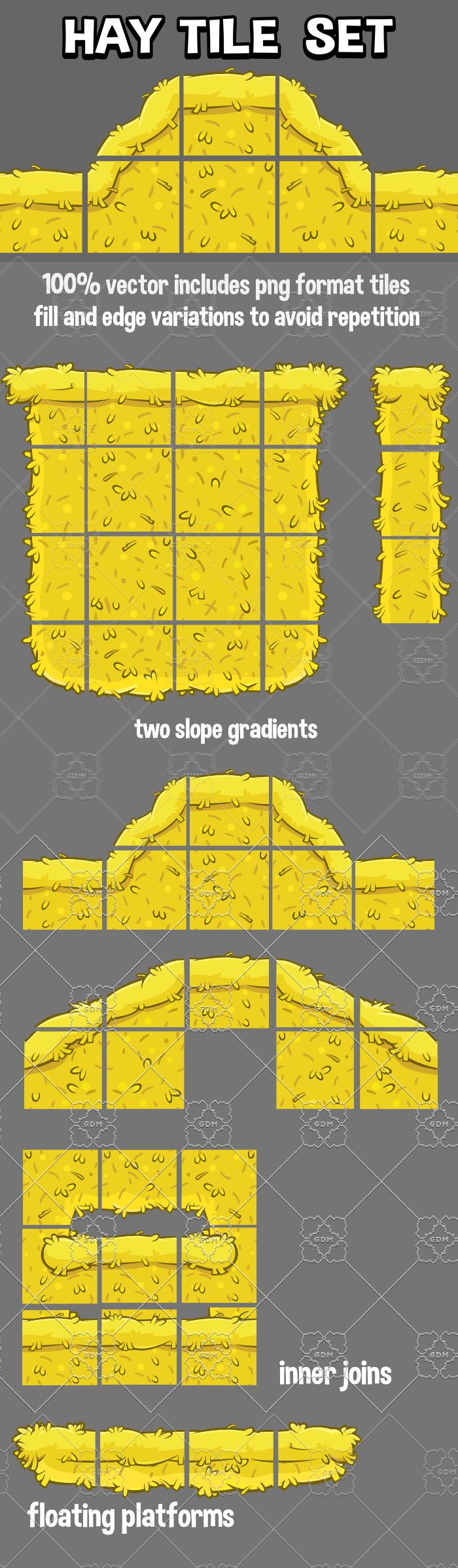 2d hay tile set