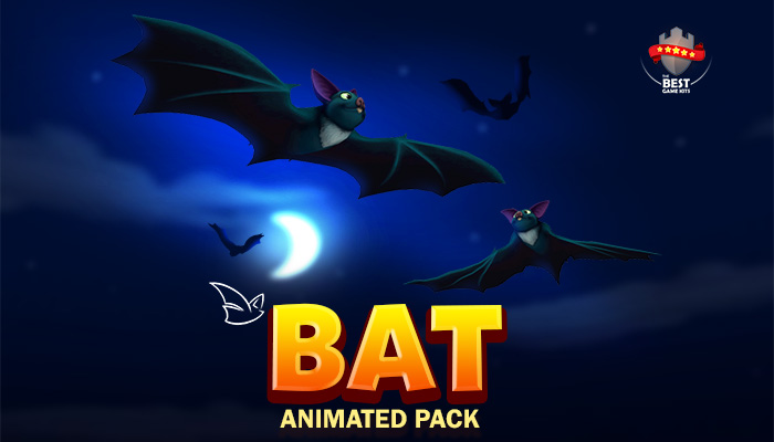 Cartoon Bat animations pack