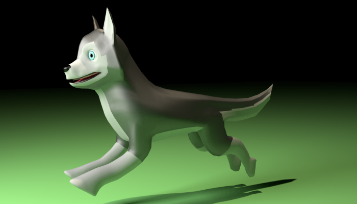 Husky Dog 3d Model – Animated