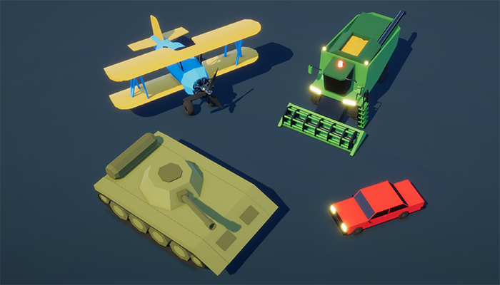 Low Poly Art Vehicles