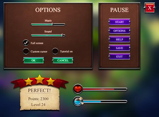 Fantasy GUI set