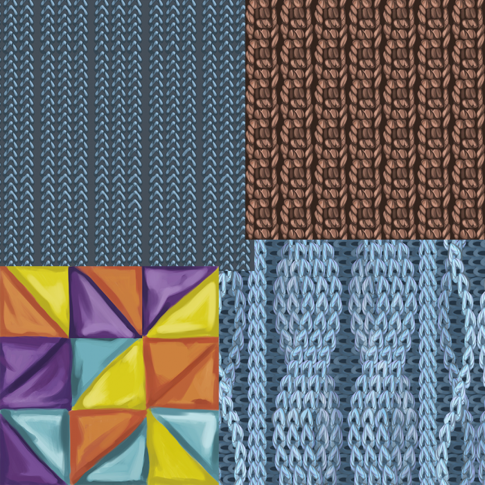 Fiber tile texture