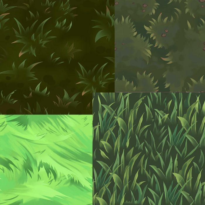 Grass tile texture