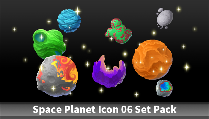 Space Planet Icon 06 Set Pack