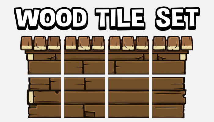 Wood tile set