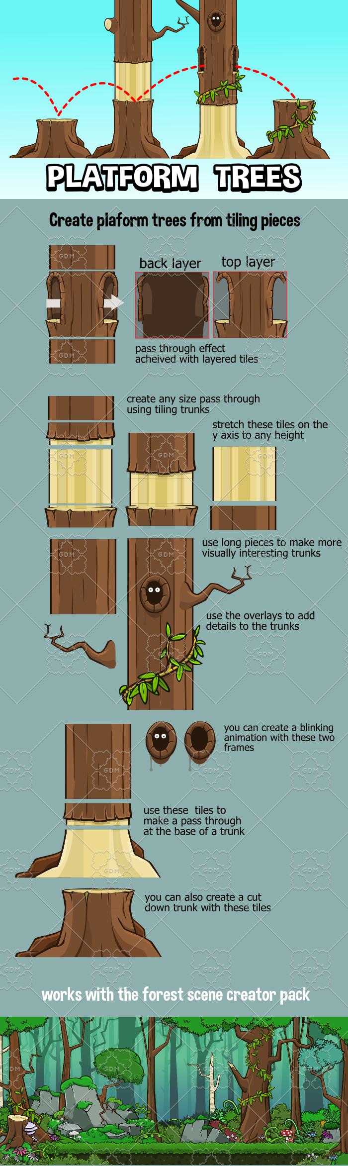 Tree platform tile set