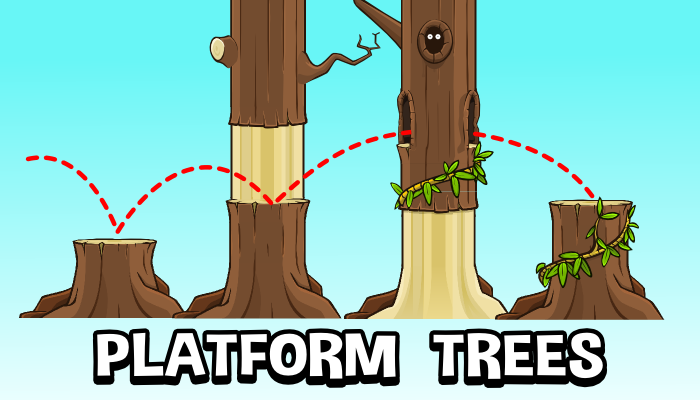 Tree platform tile set