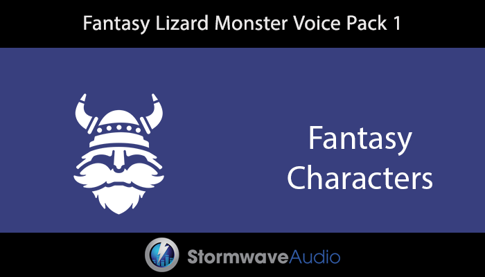 Fantasy Lizard Monster Voice Pack 1