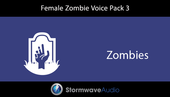 Female Zombie Voice Pack 3