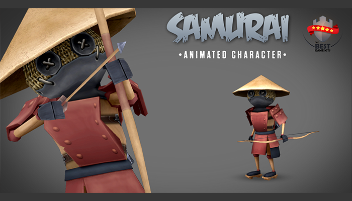 Samurai animated character