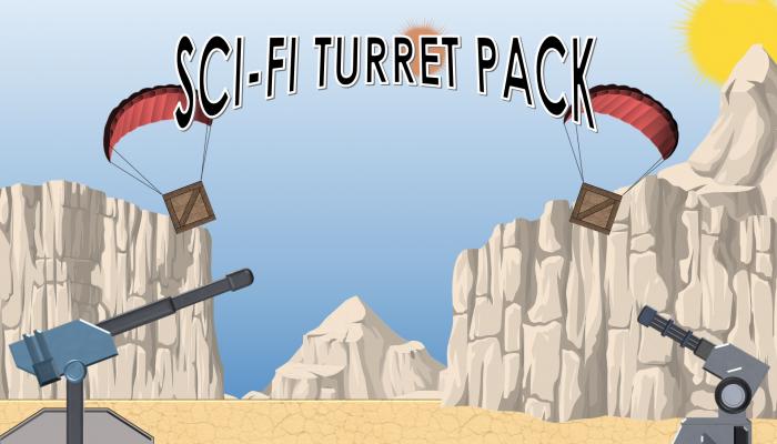 2D Sci-Fi Turret Pack
